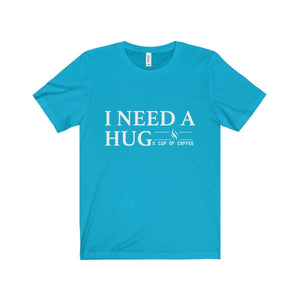 All For Hobbies Turquoise / XS HUGe Cup of Coffee Tee
