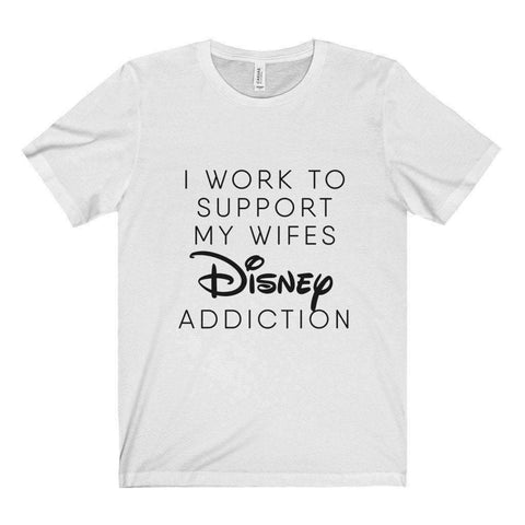 All For Hobbies White / XS Wife's Disney Addiction Tee
