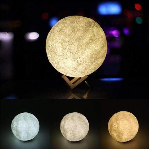 Image of 3d moon lamp