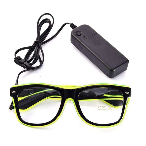 All For Hobbies Yellow LED Glasses