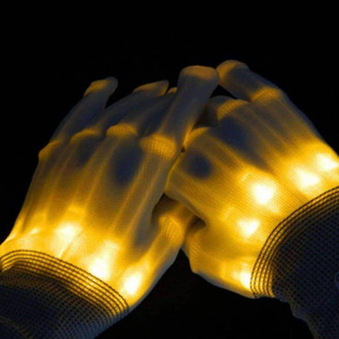 All For Hobbies Yellow LED Skeleton Gloves