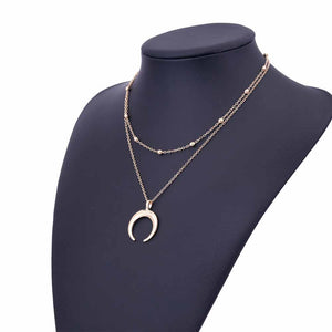 Tiered Crescent Necklace