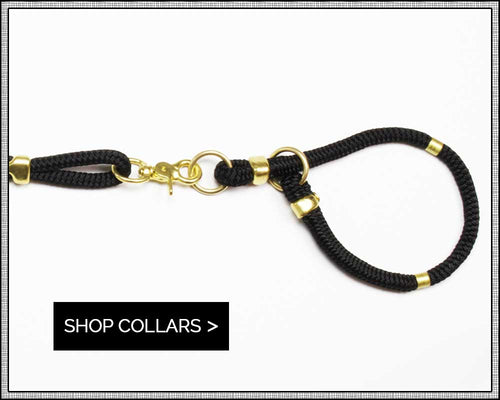 rope & brass dog collars | Sweet Beest
