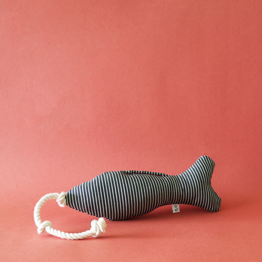 Fish Squeaky Toy + Rope Tug - The Ellery