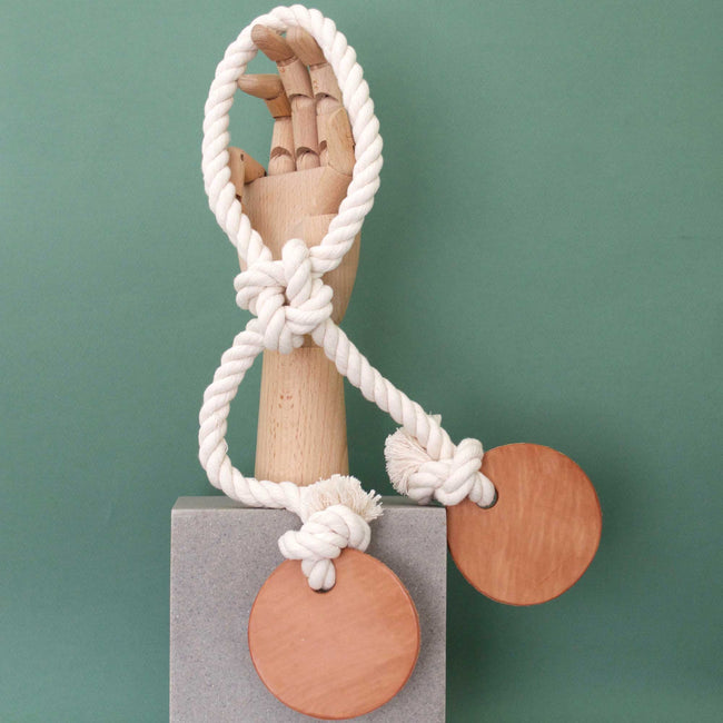 modern dog toy - cotton rope & leather tug | Sweet Beest