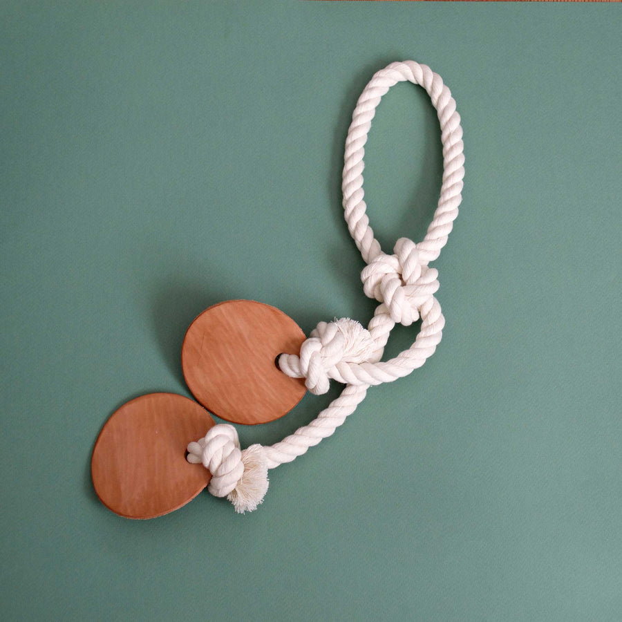 natural cotton and leather dog toy | Sweet Beest