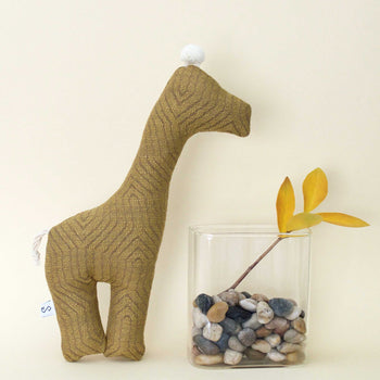 Goldenrod Giraffe Squeaky Dog Toy - The Savannah