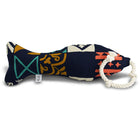 mexican talavera tile print squeaky dog rope toy - diego the fish | Sweet Beest