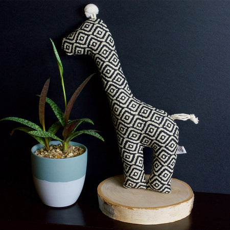 geometric print squeaky dog toy - serengeti giraffe | Sweet Beest