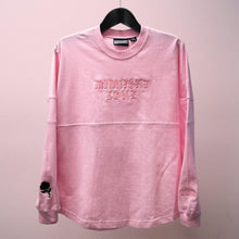 """Midnight Zone"" Pink Embroidered Heavy Knit Long Sleeve"