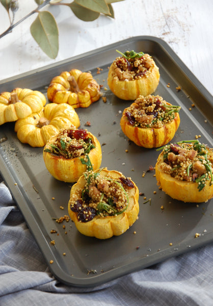 Moroccan Quinoa Stuffed Mini Pumpkins