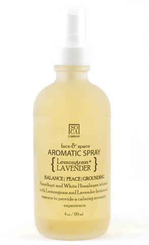 Aromatic Face & Space Spray { Lemongrass + Lavender }