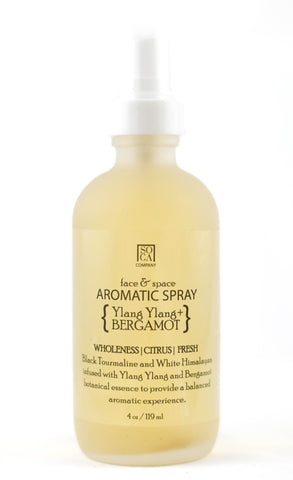 Aromatic Face & Space Spray - { Ylang Ylang + Bergamot }