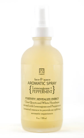 Aromatic Face & Space Spray - { Peppermint + Lemongrass }