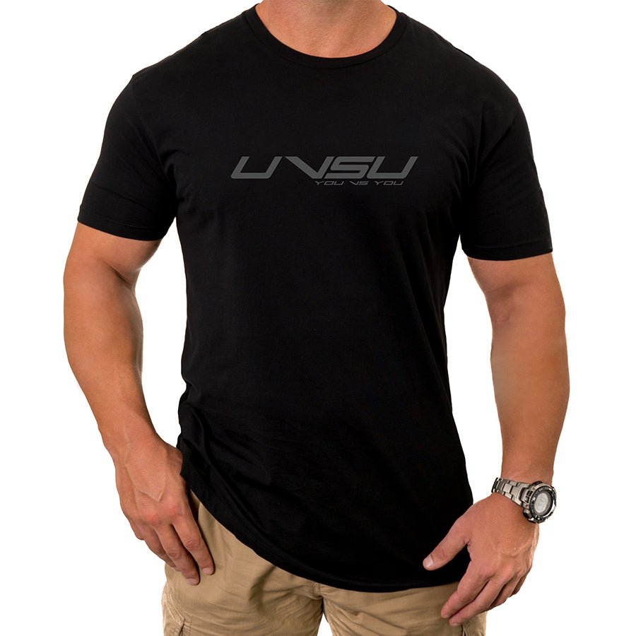 MEN'S EVERYDAY TEE - BLACK (GUN METAL) - UVSU (YOU VS YOU)