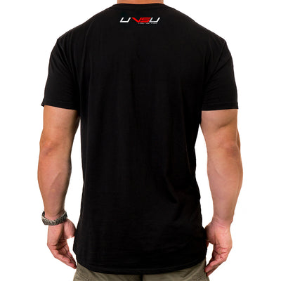 MEN'S EVERYDAY TEE - BLACK (SILVER & RED)
