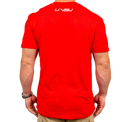 MEN'S EVERYDAY TEE - RED (WHITE) - UVSU (YOU VS YOU)