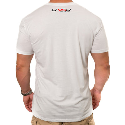 MEN'S EVERYDAY TEE - WHITE (BLACK & RED) - UVSU (YOU VS YOU)