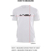 MEN'S MUSCLE TEE - WHITE (BLACK & RED)