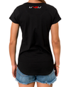 WOMEN'S EVERYDAY TEE - BLACK (SILVER & RED) - UVSU (YOU VS YOU)