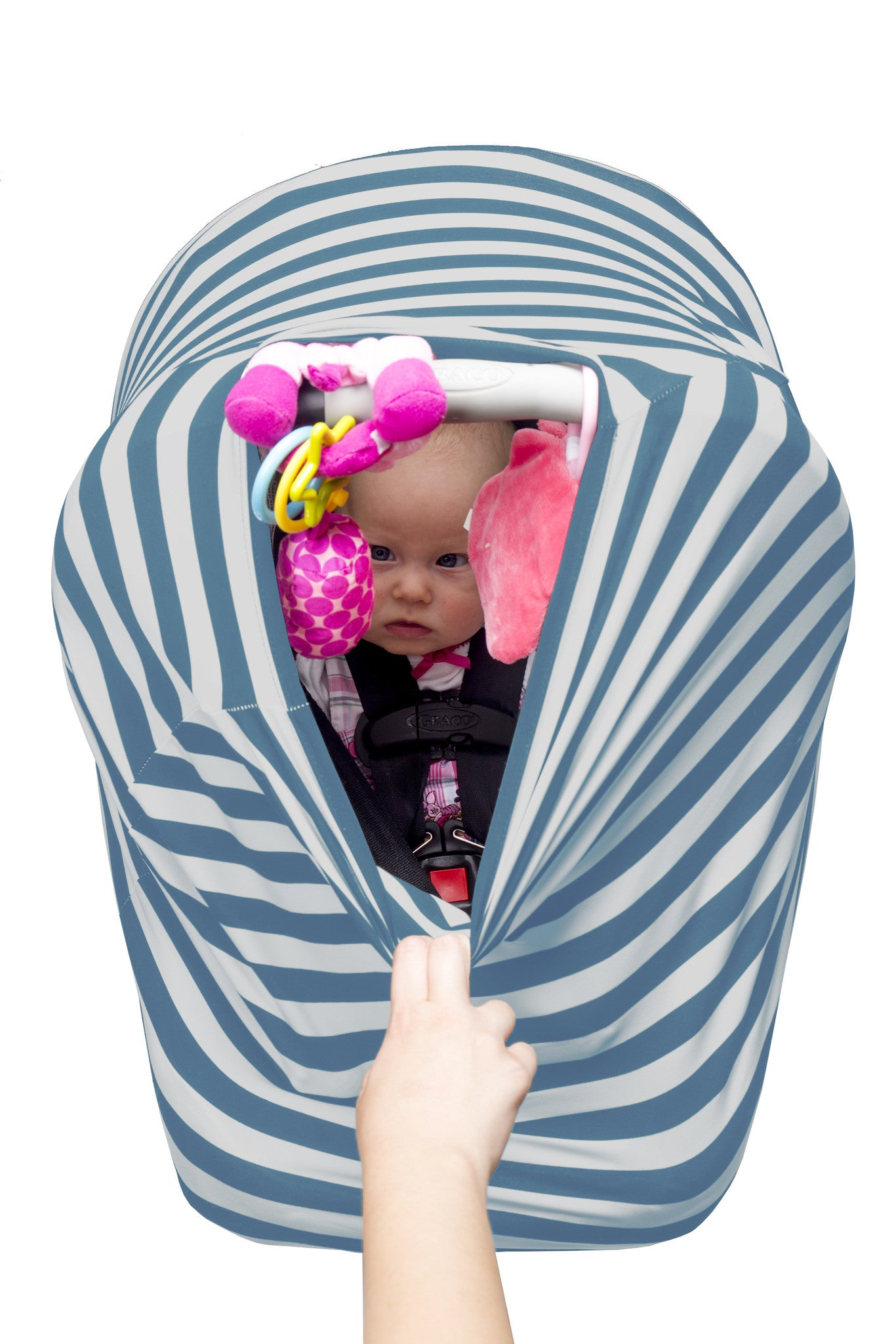 Kiddo Care 4 in 1 Car Seat Cover Baby Car seat Canopy Nursing