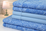 Bibb Home Paisley Collection 800 Thread Count Cotton Rich Sheets 6 Piece Set - 8 Colors