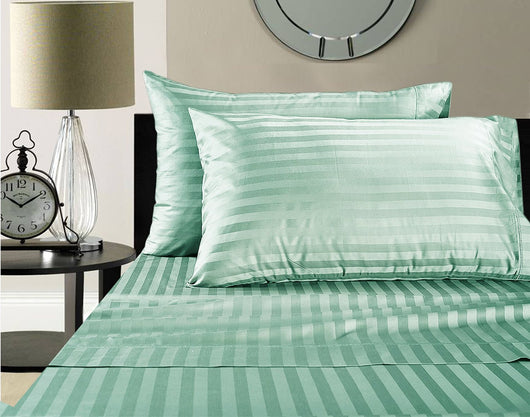 Wamsutta 500 Thread Count Egyptian Cotton Damask Stripe Sheet Set