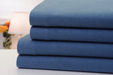 Bibb Home 100% Cotton Solid Flannel Bed Sheets 4 Piece Set with Deep Pockets - 6 Colors