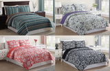 Lifestyles 3 Piece Reversible Pinsonic Quilt Coverlet Set - 4 Designs