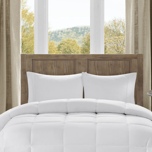 Bibb Home All-Season Overfilled Down Alternative Comforter Hypoallergenic - White