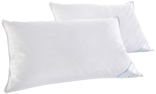 2 Pack Beauty Sleep Cotton Feather & Down Pillows