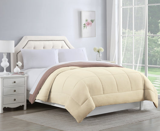 Bibb Home 2-Tone Down Alternative Reversible Comforters