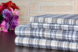 Bibb Home Printed Flannel Sheet Set 100% Cotton - Thick, Cozy, Soft, Deep Pocket Sheets