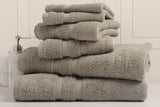Bibb Home 6-Piece Zero Twist Egyptian Cotton Towel Set