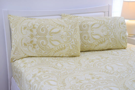 ... Paisley Collection 500 Thread Count Egyptian Cotton Bed Sheets 4 Piece  Set   5 Colors ...