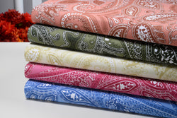 Paisley Collection 500 Thread Count Egyptian Cotton Bed Sheets 4 Piece Set - 5 Colors