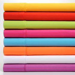 Premier Colorful Collection Soft Super Bright Microfiber Sheets 4 Piece Set - 8 Hot Colors