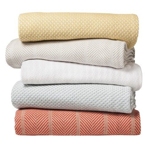 Bibb Home 100% Organic Certified Cotton Weave Blanket - 4 Colors