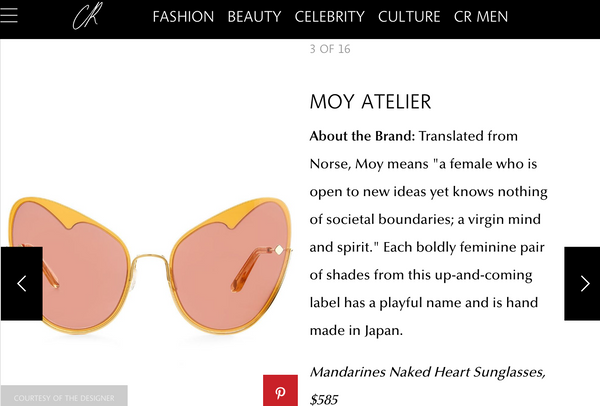 NAKED HEART: MANDARINS featured in CR fashion book