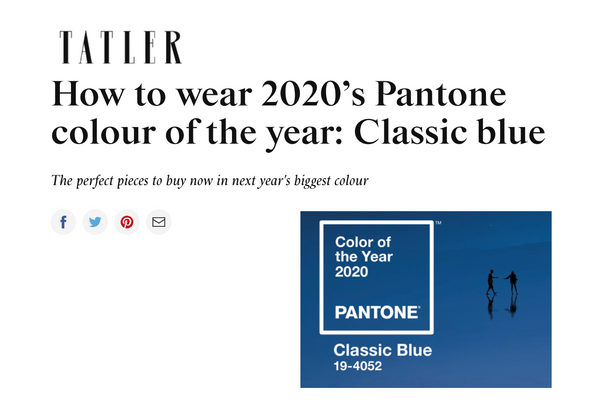 Stranger's Ray featured in TATLER's guide on how to wear the PANTONE colour of the year