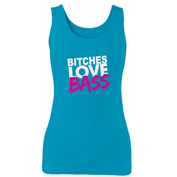 Bitches Love Bass House Dance Dj Dubstep Music Festival Edc Tomorrowland Party Woman's Tank Top