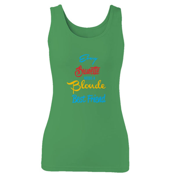 Blonde & Brunette Women Best Friend 1 Woman's Tank Top