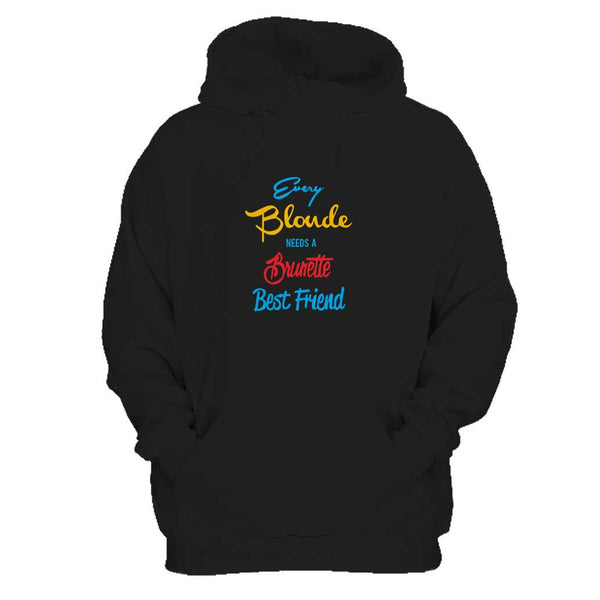 Blonde & Brunette Women Best Friend 2 Man's Hoodie