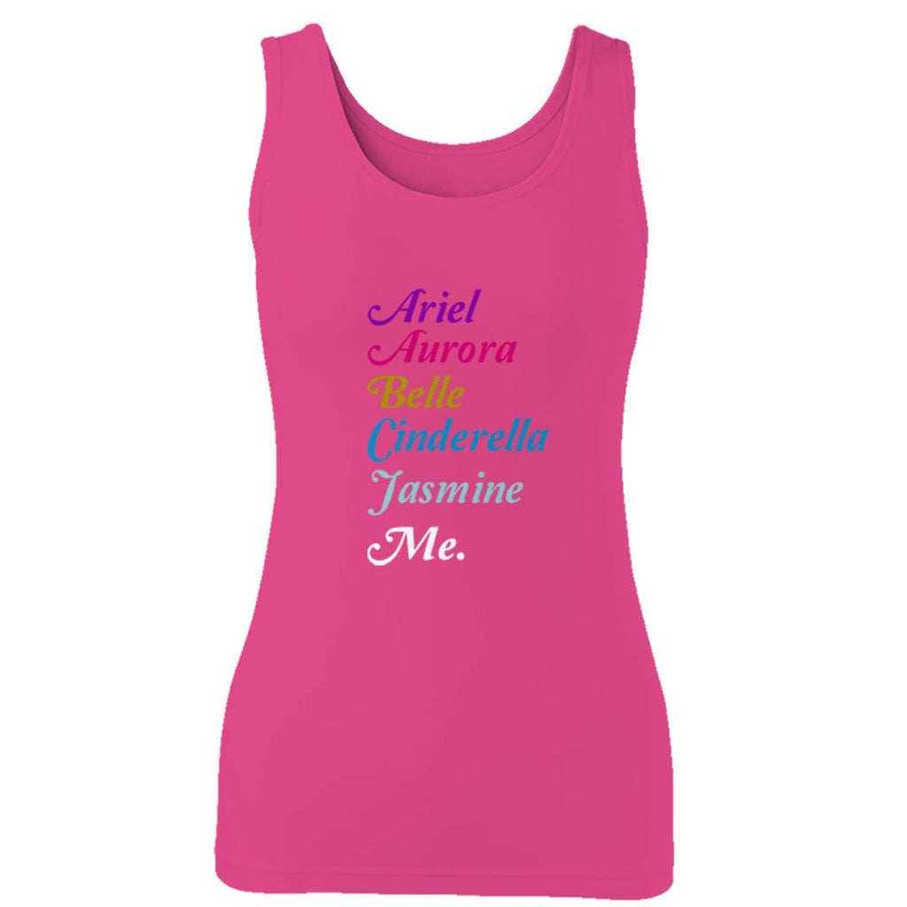 Disney Princess Ariel Aurora Belle Sleeping Beauty Cinderella Beauty And The Beast Snow White Woman's Tank Top