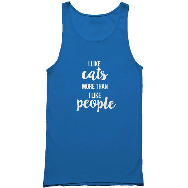 I Love Cats More Than I Like People Cat Lover Crazy Cat Man's Tank Top