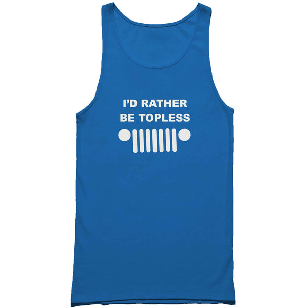 I'd Rather Be Topless Jeep Man's Tank Top