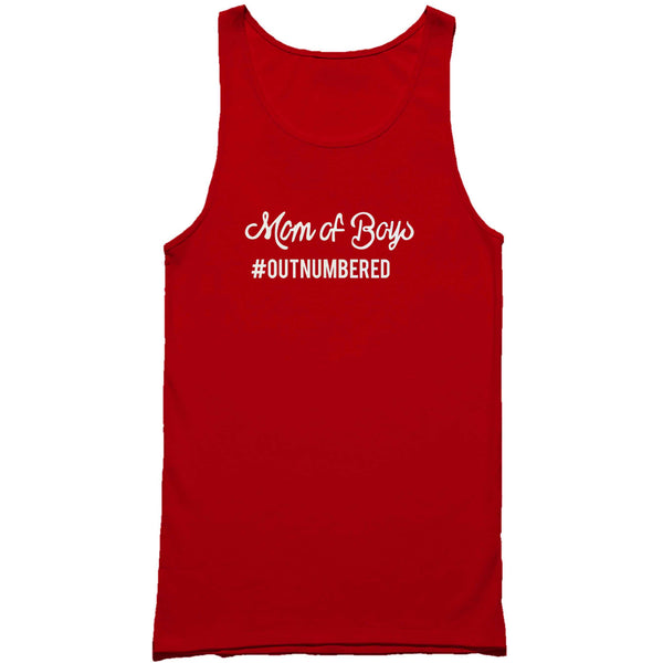 Mom Of Boys Outnumbered Mother Day Mommy Man's Tank Top