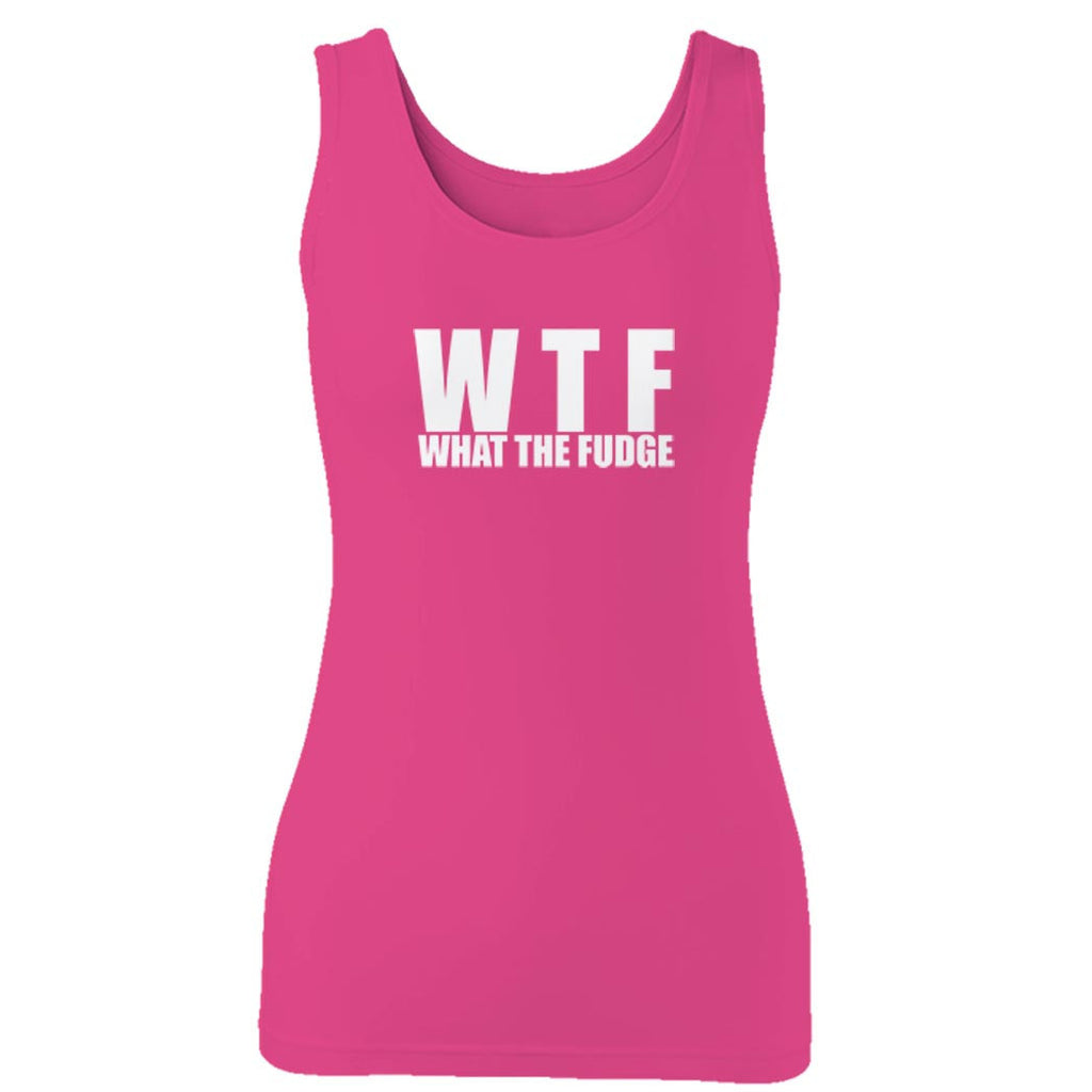 Wtf What The Fudge Funny Christmas Family Women's Women Ladies Girlfriend Mom Mother School College Humor Gift Woman's Tank Top
