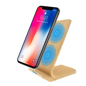 Wireless Wood charging dock