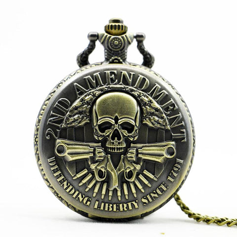 2nd Amendment Pocket Watch  - Multiple Designs!